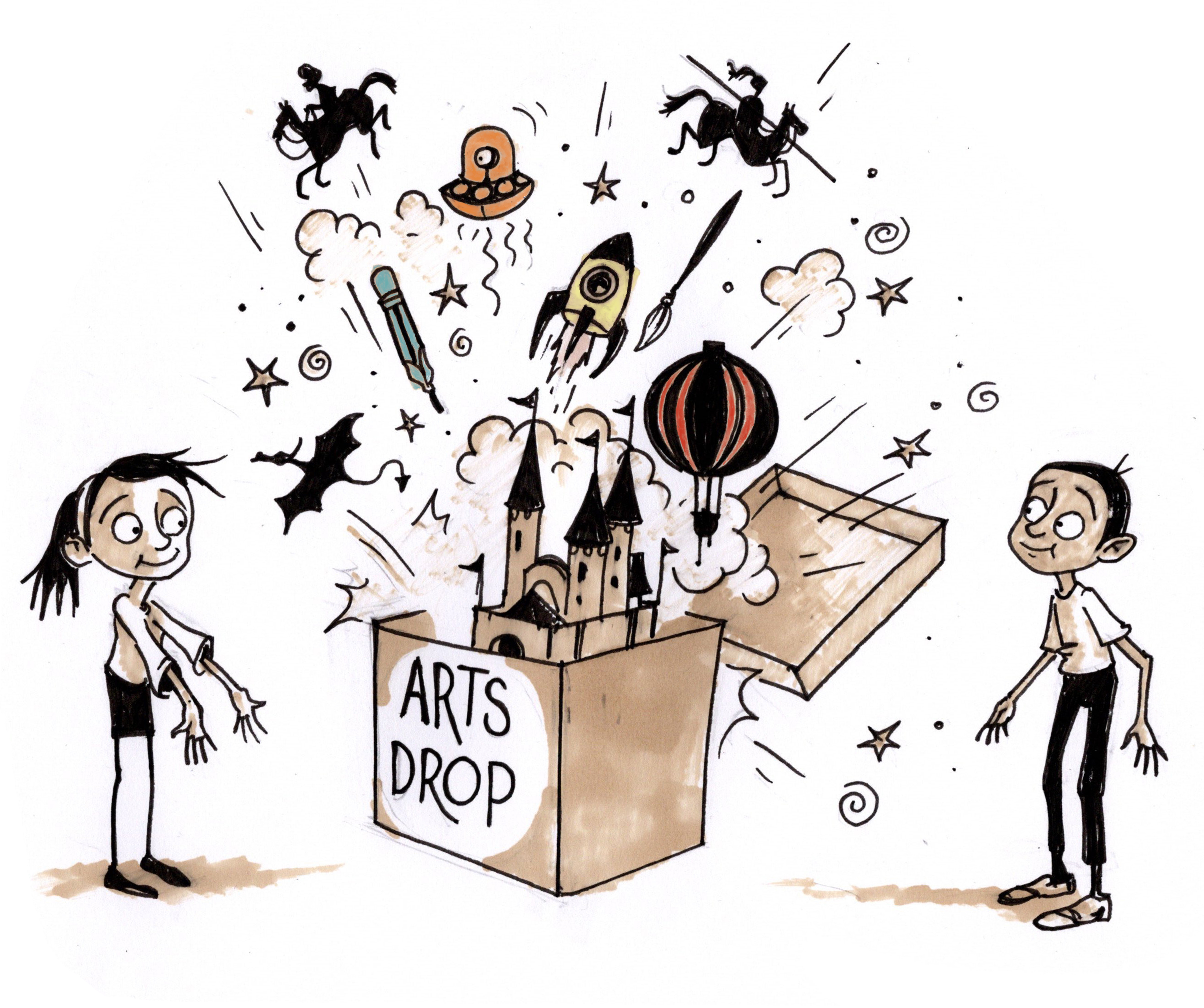 Collaborate with Arts Drop graphic