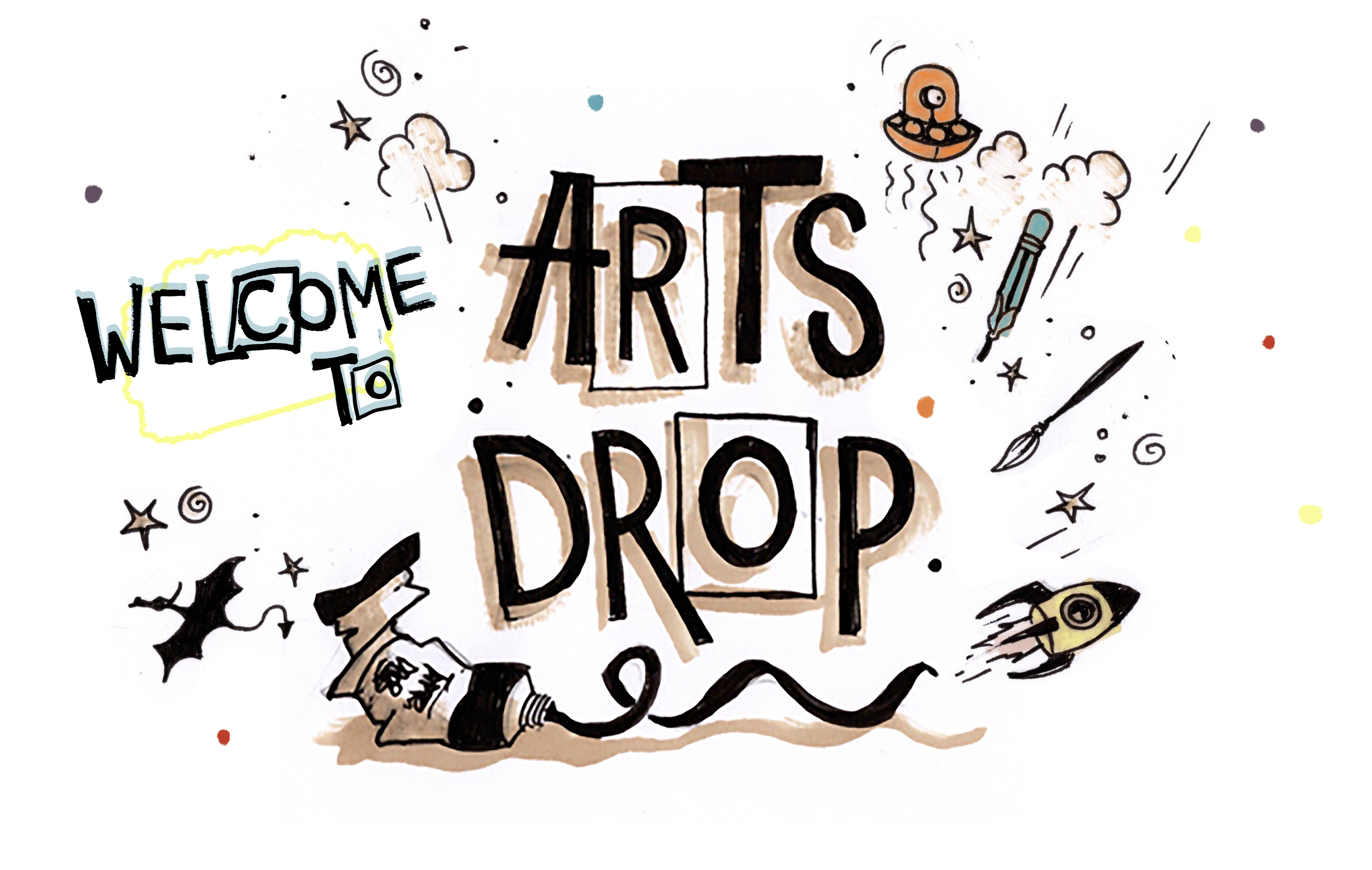 Welcome to Arts Drop graphic