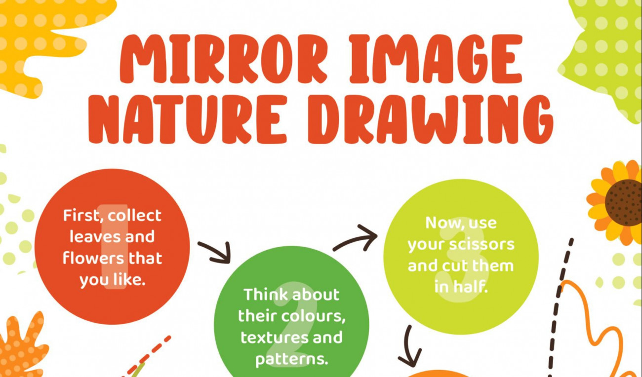 Mirror Image Nature Drawing
